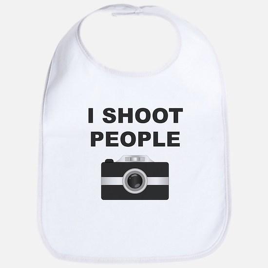 I Shoot People Black Camera Bib