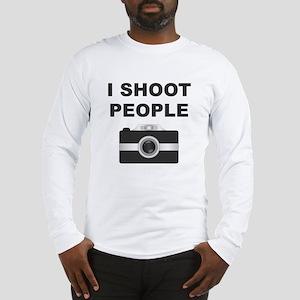 I Shoot People Black Camera Long Sleeve T-Shirt