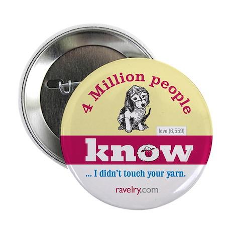 "Ravelry 4 Million Puppy 2.25"" Button (10 Pack)"