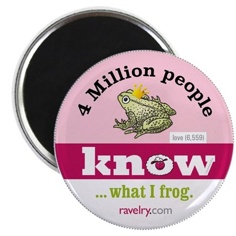Ravelry 4 Million Frog Magnet