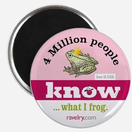 Ravelry 4 Million Frog Magnet