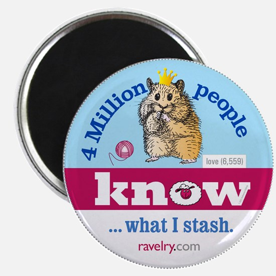 Ravelry 4 Million Hamster Magnet