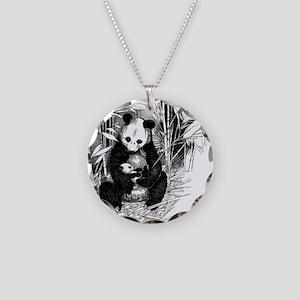 Panda and baby Necklace Circle Charm