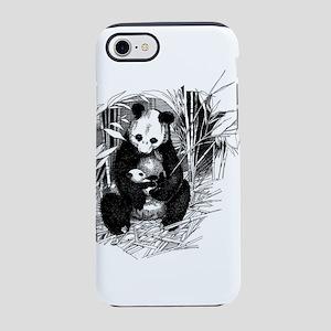 Panda and baby iPhone 7 Tough Case