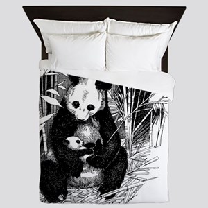 Panda and baby Queen Duvet