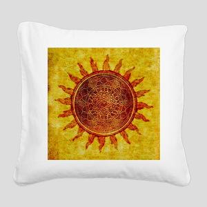 Arabesque Sun Square Canvas Pillow