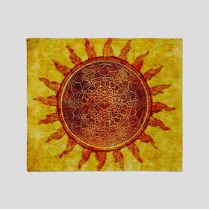 Arabesque Sun Throw Blanket