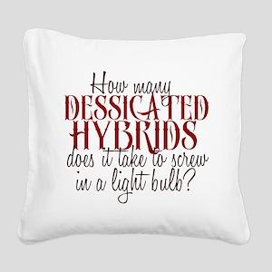 Dessicated Hybrids Square Canvas Pillow