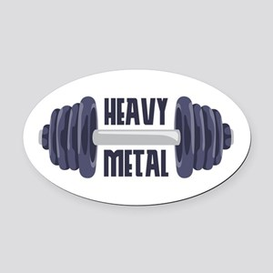 Heavy Metal Oval Car Magnet
