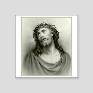 Portrait of Jesus Rectangle Sticker