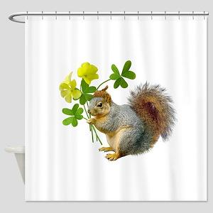 Squirrel Sourgrass Shower Curtain