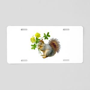 Squirrel Sourgrass Aluminum License Plate