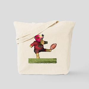 Football Moose Tote Bag