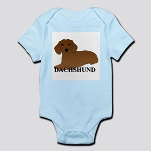 Cartoon Dachshund Infant Bodysuit