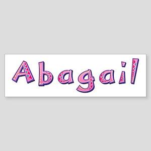 Abagail Pink Giraffe Bumper Sticker