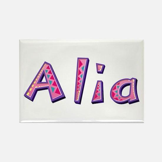 Alia Pink Giraffe Rectangle Magnet