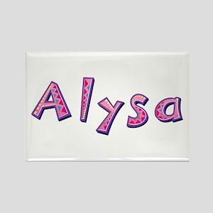 Alysa Pink Giraffe Rectangle Magnet