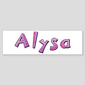 Alysa Pink Giraffe Bumper Sticker