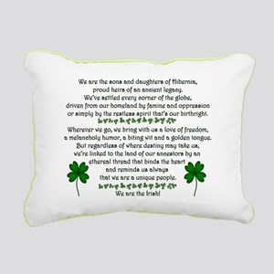 We Are The Irish Rectangular Canvas Pillow