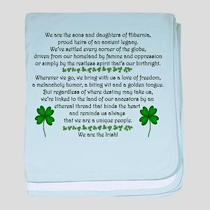 We Are the Irish baby blanket