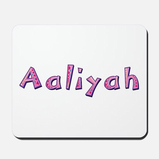 Aaliyah Pink Giraffe Mousepad
