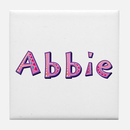 Abbie Pink Giraffe Tile Coaster