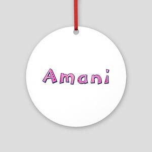 Amani Pink Giraffe Round Ornament