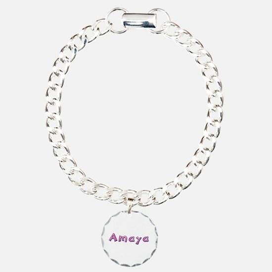 Amaya Pink Giraffe Bracelet