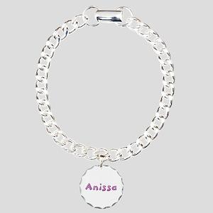 Anissa Pink Giraffe Charm Bracelet