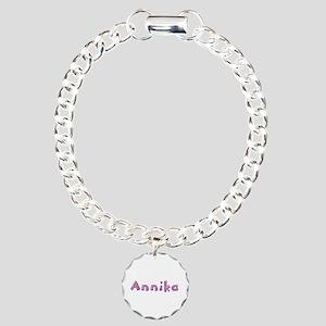 Annika Pink Giraffe Charm Bracelet