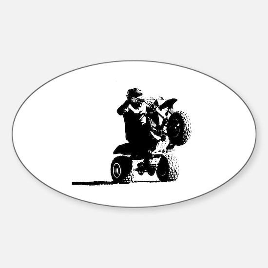 Cute Three wheeler Sticker (Oval)