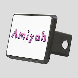 Amiyah Pink Giraffe Rectangular Hitch Cover