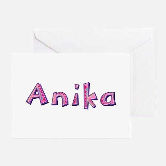 Anika Pink Giraffe Greeting Card