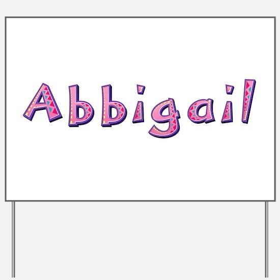 Abbigail Pink Giraffe Yard Sign
