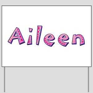Aileen Pink Giraffe Yard Sign