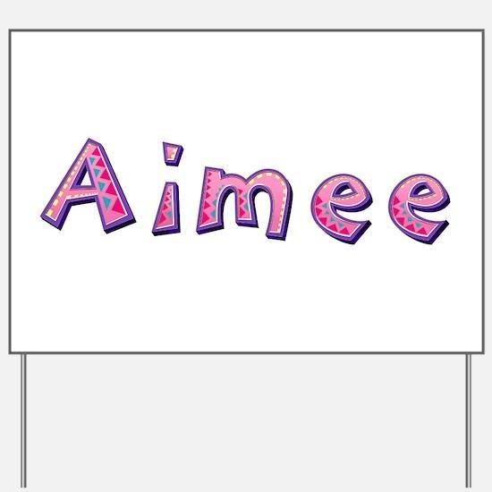 Aimee Pink Giraffe Yard Sign