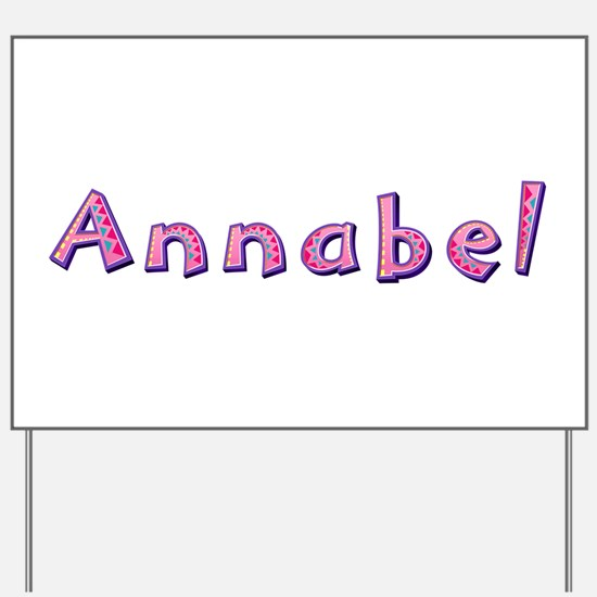 Annabel Pink Giraffe Yard Sign