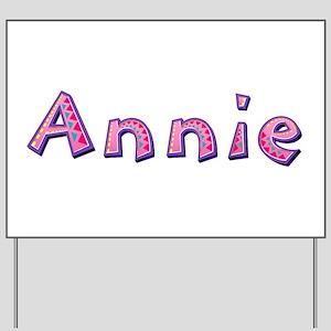 Annie Pink Giraffe Yard Sign