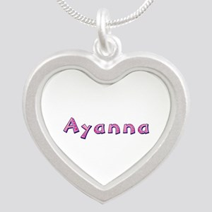 Ayanna Pink Giraffe Silver Heart Necklace