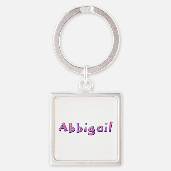 Abbigail Pink Giraffe Square Keychain