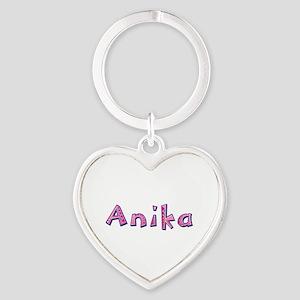 Anika Pink Giraffe Heart Keychain
