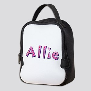 Allie Pink Giraffe Neoprene Lunch Bag