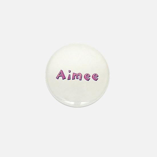 Aimee Pink Giraffe Mini Button