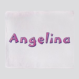 Angelina Pink Giraffe Throw Blanket