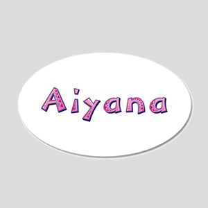 Aiyana Pink Giraffe 20x12 Oval Wall Decal