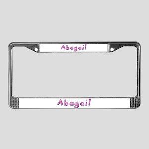 Abagail Pink Giraffe License Plate Frame