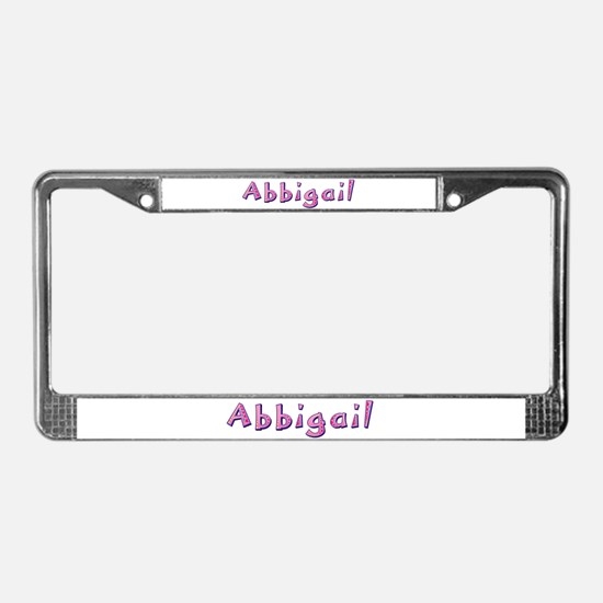 Abbigail Pink Giraffe License Plate Frame