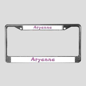 Aryanna Pink Giraffe License Plate Frame