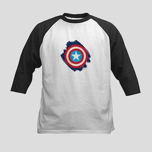 Captain America Distressed Sh Kids Baseball Jersey