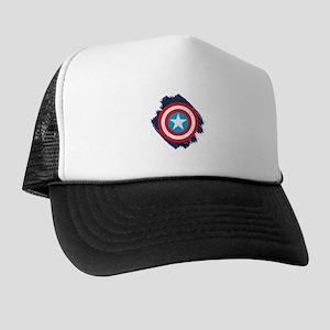 Captain America Distressed Shield Trucker Hat